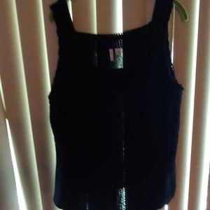 Crochet front black tank, Size 18/20